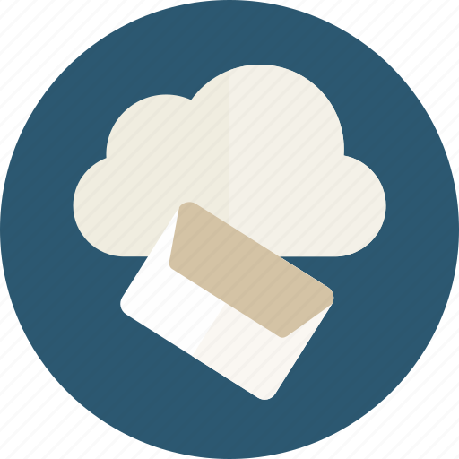 cloud, envelope, interface, mail, message, note icon