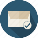 email, envelope, interface, mail, message, note, ok icon