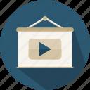 business, finances, presentation, statistics, video icon