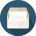 email, envelope, interface, message, note, open, web icon
