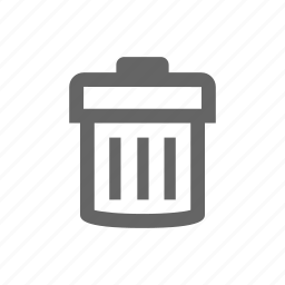delete, remove, trash, trash can icon