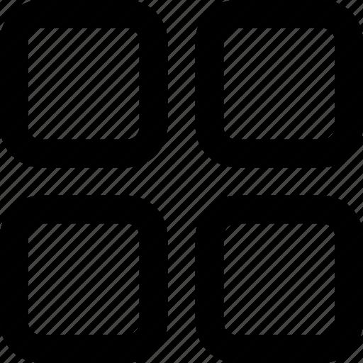 Grid, grid view, grid menu, view switch icon