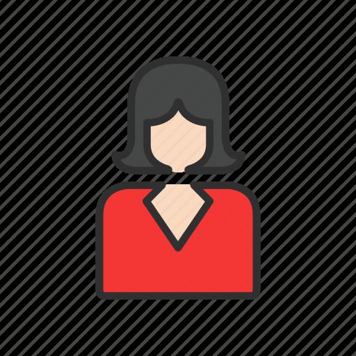 emplpyee, lady, user, women icon
