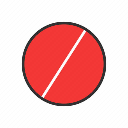 cancel, error, restricted, slash icon
