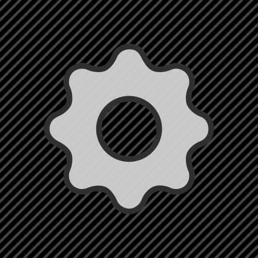 cogs, menu, notification, setting, settings icon