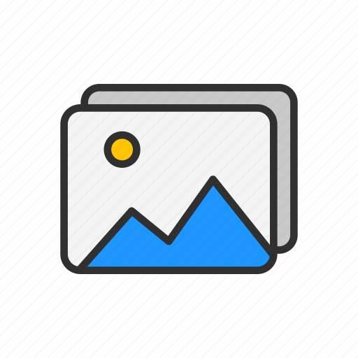 image, photo, photo library, picture icon