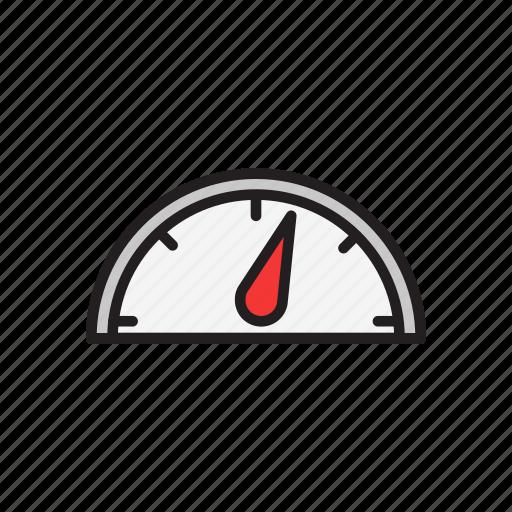 dashboard, level, speed, speedometer icon