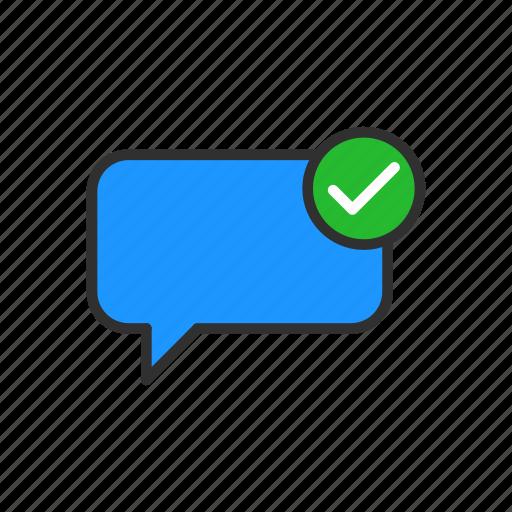 conversation, message, sent, speech bubble icon