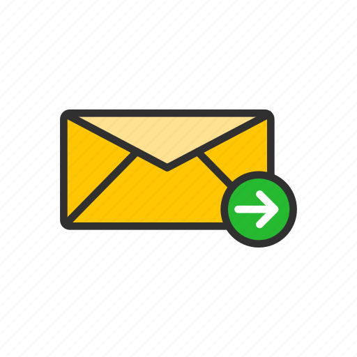 inbox, message, sent, sent meesage icon