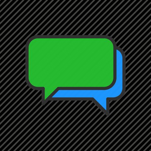 conversation, message, speech bubble, talk icon