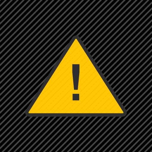 caution, error, restriction, warning icon