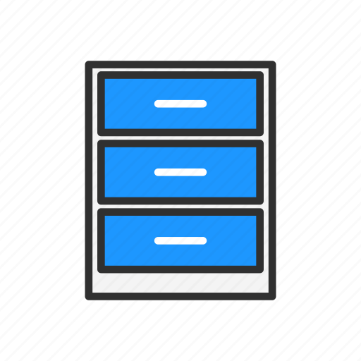 documents, drawer, files, storage icon