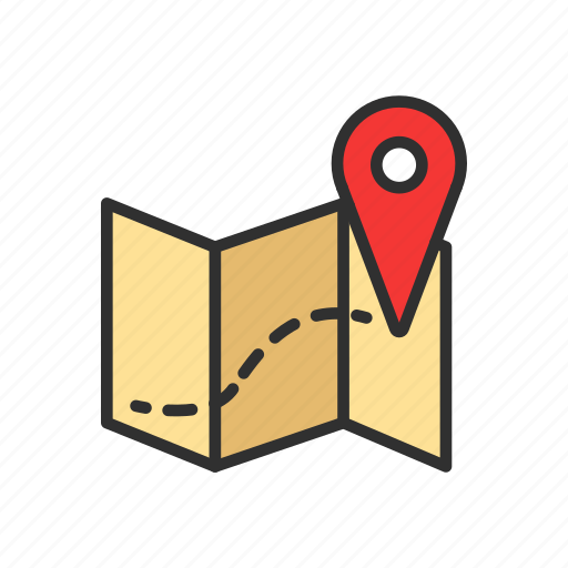 location, map, pin, place icon
