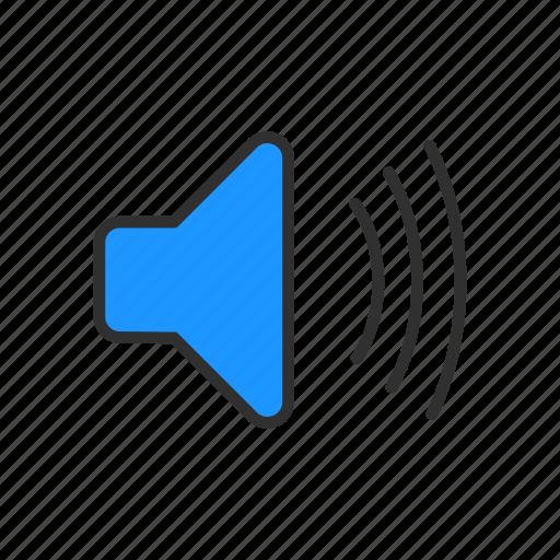 loud, sound, speakers, volume icon