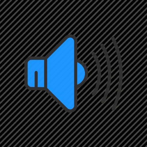 full volume, loud, speakers, volume icon
