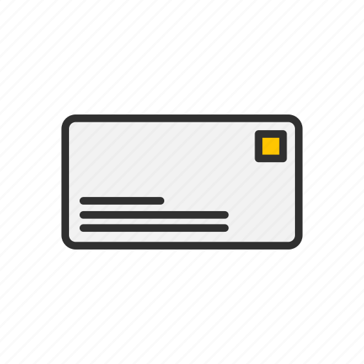 card, check, letter, mail icon