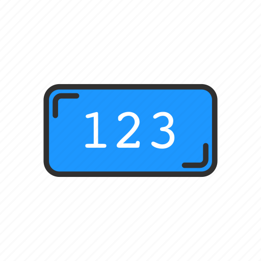 digits, numbers, numeric, one two three icon