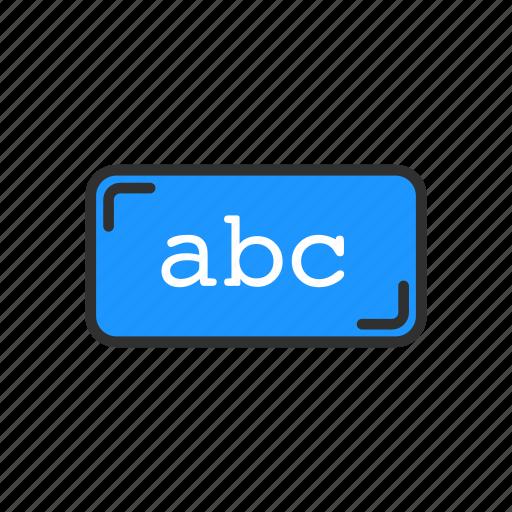abc, alphabet, letters, text icon