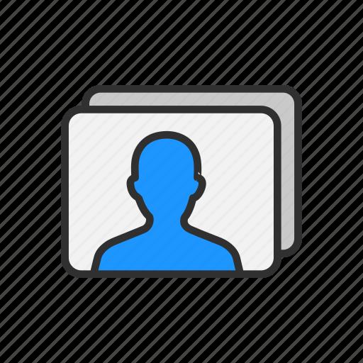 account, identification, profile, user icon
