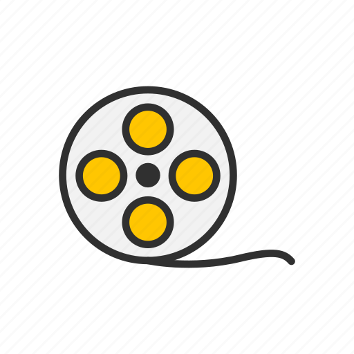 film, film reel, movie, video icon