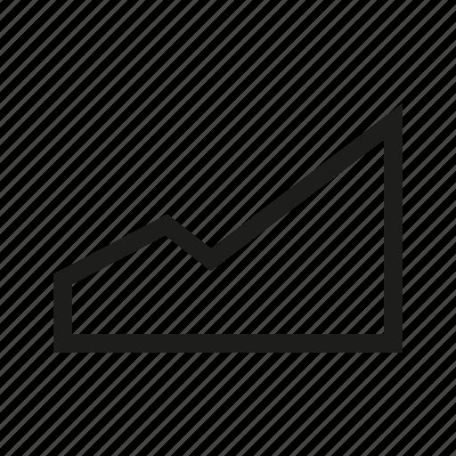 chart, data, graph, plot, trend icon