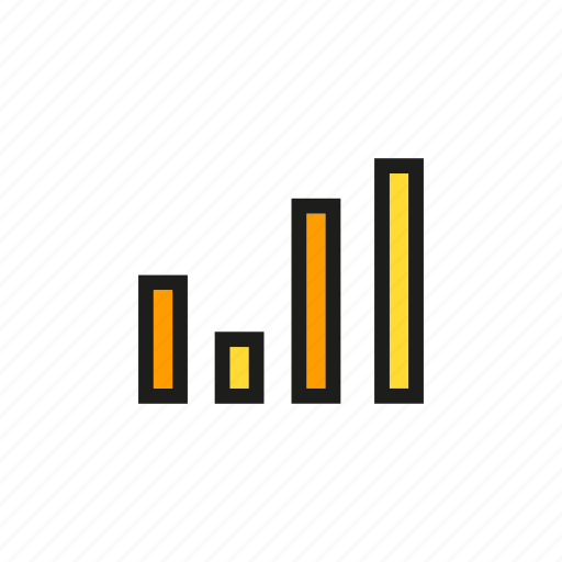 bar chart, business, chart, data, graph, stats icon
