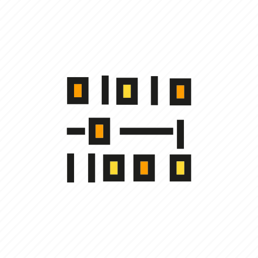 binary, business, cyber, data, graph, number, stats icon