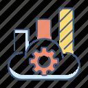 analytics, chart, cloud, data, database, statistics, storage icon