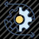 data, database, file, file type, flow, server icon