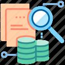 data analysis, data analytic, data processing, data visualization, database, information, research icon