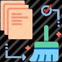 cleaning, data, data cleaning, data cleansing, data validation, database, file icon