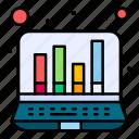 computer, digital, graph, online icon