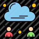 analytics, business, data, document, user icon