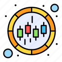 business, chart, donut, graph icon