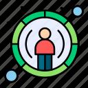 database, focus, report, user icon