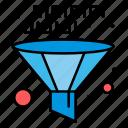 coding, data, development, funnel, management icon