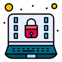 computer, internet, lock, security icon