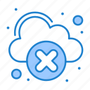 cloud, disconnected, network icon