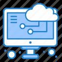 cloud, computing, monitor icon