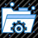 folder, gear, settings icon