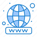 domain, registration, website, worldwide icon