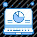 analysis, data, laptop, report icon