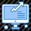 graph, growth, online, statistics icon