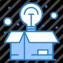 box, idea, package, seo, web icon