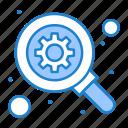 gear, optimization, search icon
