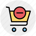 cart, commerce, minus, remove, shopping, shopping cart icon