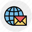 earth, global, letter, mail, world, world letter icon