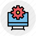 gear, monitor setting, options, setting, setup, system setting icon