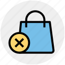bag, cross, gift bag, hand bag, money bag, shopping bag icon