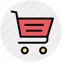 basket, cart, commerce, shopping, shopping cart, trolley icon